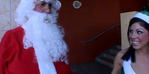 Naughty Babe Elf Fucking Santa Claus