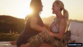 Naughty Lesbians Elexis Monroe And Brandi Love Scissoring