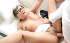 Granny Drilled Her Shaved Cunt By Young Stud In Hardcore Sex Like Younger Chicks