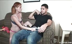 Big Dicked Guy Got Amazing Handjob From Excited Pigtail Legal Teen