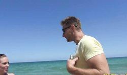 Money Talks Babes Layla Price And Esmi Leen Goes Nude On The Public Beach