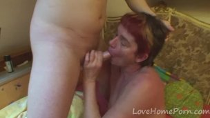 Granny Gets Penetrated By A Young Stud
