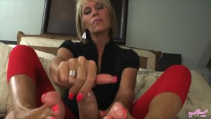 Nikki Ashton   MILF Gives A Cummy POV Footjob