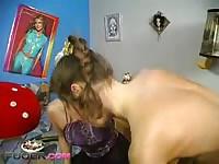 Mom Teaching Her Nerd Daughter To Fuck