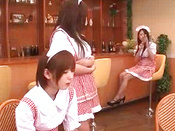 Stunning And Young Japanese Teens Are Having Amazing Group Sex