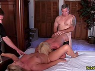 Amateur Mature Blonde Ms Paris And Her Friend Organized Unforgettable Group Sex In The Bedroom