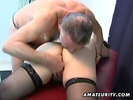 Gray-bearded Grandfather Masturbating Old Client's Pussy On The Massage Table