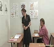 Screwing A MILF In A Classroom