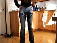 Snuppa Wetting Her Jeans In The Kitchen