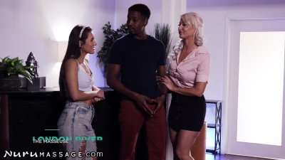 NuruMassage Paige Owens & Stepmom Go Wild On A 3 Way Nuru Session