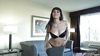 Alana Cruise Finger Fucked In Her Tight Pussy