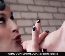 SPECIAL FEET FORCE   German Feet Slaves Sophia Medevil And June Tortured By Hot Princess Of Pain