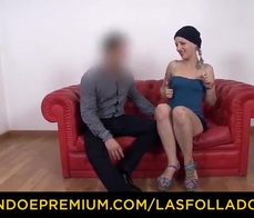 LAS FOLLADORAS   Amateur Dude Gets Picked Up And Fucked By Hot Blonde Spanish Pornstar