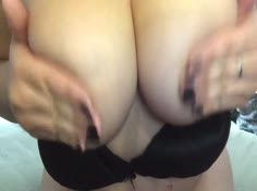 Asian Thick Babe In Black Sexy Bra And Panties Teasing