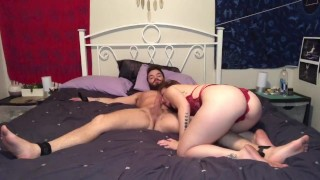 DID YOU CUM INSIDE ME?!? Tied Up And Teased Boyfriend