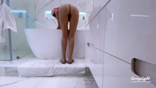 Step Son Spying On Step Mom Then Trick Her And Fuck By Pretending To Be His Daddy   Cum Twice 4K