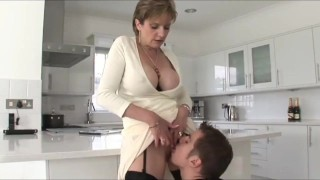 Teen With Big Dick And Kinky Mature MILF