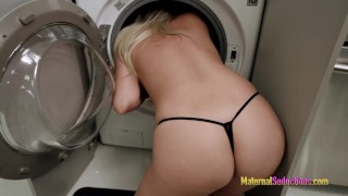Fucking My Hot Step Mom While She Is Stuck In The Dryer   Nikki Brooks