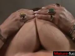 A Big Mature Woman Tries Anal  Maturefuckscom