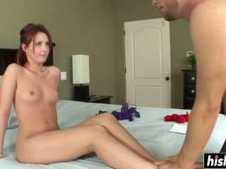 He Fucked Her And Cum On Her Feet