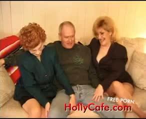 Kitty Foxx Threeway With A Granny  Grannies Stockings Threesomes