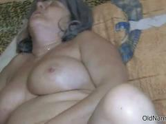 Gorgeous Threesome With Two Grannies And A Nasty Redhead Girl Busty Granny Use A Dildo To Rub Her Clit While Is Sucking A Ma