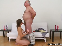 This Naughty Teen Doll Loves To Play With Old Dudes