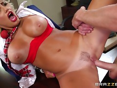 Blonde Babe Fucked In Her Hairy Pussy