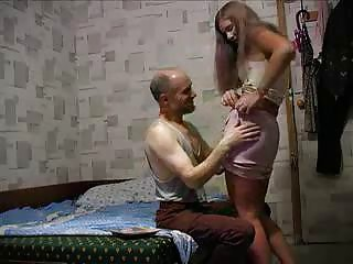 Lucky Old Man Fucks A Nice Tight Pussy