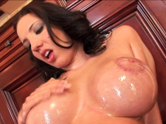 Busty PAWG Kelly Divine Oiled Up IR Anal