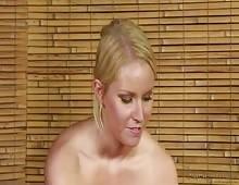 Blonde Masseuse Sucking Her Customer