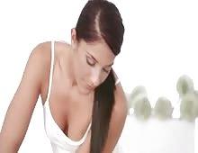 Hot Brunette Masseur Girl Fucked Hard On Massage Table