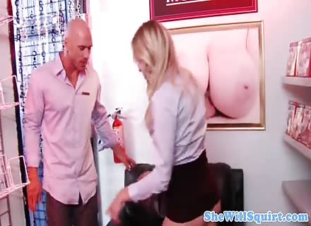 Nasty Blonde Squirter Fucked And Facilaized 2