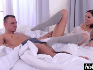 Satin Bloom Uses Her Sexy Feet