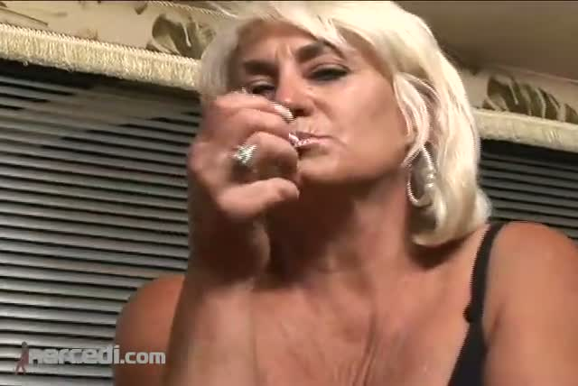 Mature Dana Hayes Smoking In Stockings  Exclusive Fetish Mature