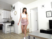 Lustful Teen Stepsister Riley Reid Is Playing Stepbrother's Cock
