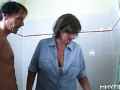Mature German Housewife Is Fucked By Her Husband In The Bath Room