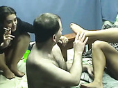Alan Got Lucky To Have Drunk And Sexy Chick In His Bedroom