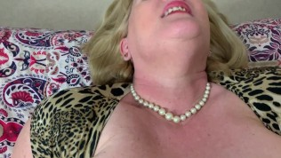 Big Tit Hot Mature Step Mom In Stockings Gives Blow Job And Fucks Pov