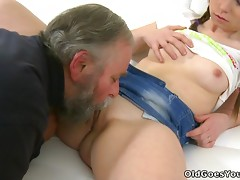This Teen Sure Is Excited To Play With An Old Guy