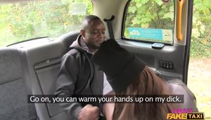 Black Guy Fucks A Chubby White Driver Woman