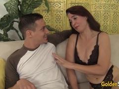 Old Sable Renae Seduces Boy