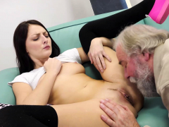 Old Goes Young   Talented Cutie Rides Old Dick In Cowgirl