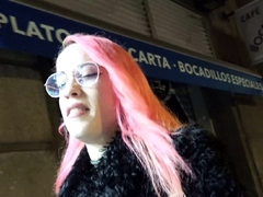 GERMAN SCOUT   CRAZY PINK HAIR GIRL PICKUP AND FUCK FOR CASH
