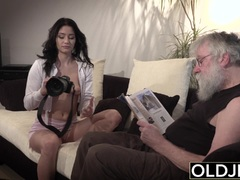 Old Young Porn Sexy Teen Fucked By Old Man On The Sofa